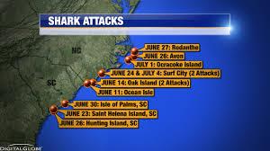 Shark Map Of The World by Camp Lejeune Marine Treated For Shark Bite Off Nc Coast Wsoc Tv