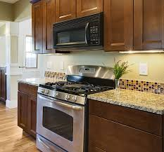 glass tile kitchen backsplash kitchen design
