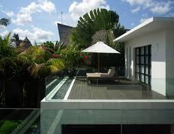 balcony glass balustrading casa hannah in bali indonesia by bo