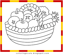 fruit basket coloring pages to print coloring home