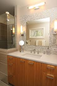 bathroom vanity with glass tile backsplash mosaic glass tile back