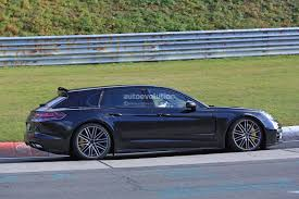 2018 porsche panamera sport turismo wagon spotted with retractable