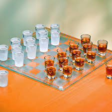 Glass Chess Boards Shot Glass Checkers Set Full Sized