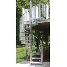 shop the iron shop venice 60 in x 10 25 ft galvanized spiral