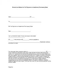 installment promissory note template free demand and notice for payment on installment promissory note