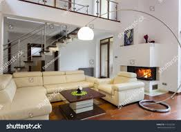 Comfortable Living Room Furniture Big Comfortable Living Room Bright Sofa Stock Photo 119752720