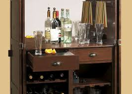 Mexican Modernist Wall Unit With Bar Small Liquor Cabinets For Home Home Bar Armoire Fold Out Bar