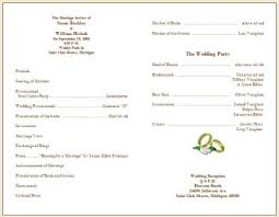 Example Of Wedding Programs Wedding Program Ideas To Go For Wedding Programs Creative