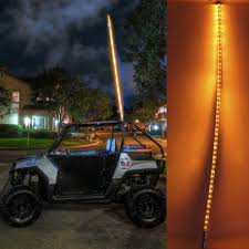 led light whip for atv 55 led whip flag light utv atv offroad