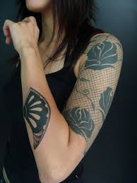 black lace and sleeve tattoomagz