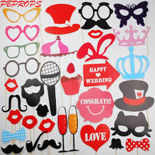 Photo Booth Online Shop 34pcs Photo Booth Props Diymustache Lips Wedding Party