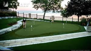 backyard putting green luxury synlawn golf installations synlawn