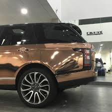 gold chrome range rover wrap shop automotive saas product 3dom wraps network