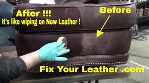 How To Paint A Leather Chair Fix Worn And Faded Leather The Easy Way Youtube