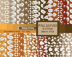 autumn digital paper etsy