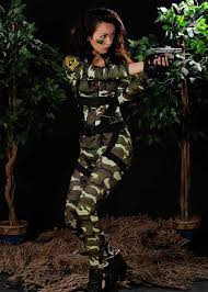 Halloween Army Costumes Womens Paratrooper Army Costume