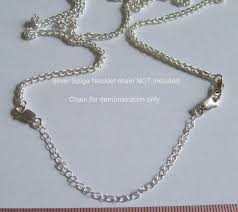 sterling silver necklace clasp images Sterling silver necklace necklet extender safety chain two quality jpg
