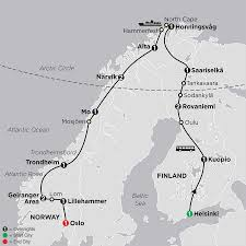Arctic Circle Map Cosmos Finland U0026 Norway Tours Budget Vacation Packages