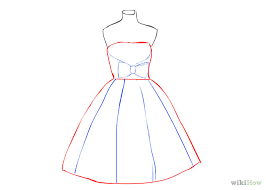 drawn gown woman dress pencil and in color drawn gown woman dress