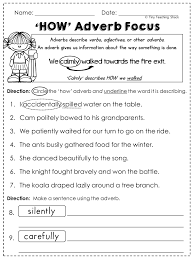 free adverb worksheet fun with literacy my tpt pinterest
