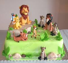 lion king birthday party with unique cake and decorations