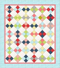 on point four patch quilt tutorial