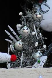 nightmare before themed portal tree ornaments creepy