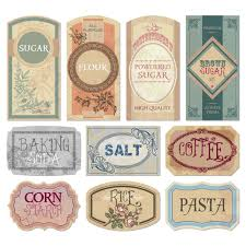 free printable vintage labels for jars and canisters to organize