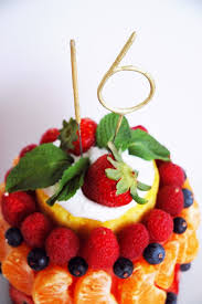 pen paper flowers make it fresh fruit birthday cake mini