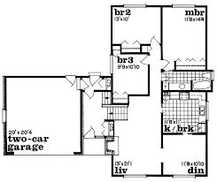 bi level floor plans with attached garage contemporary style house plan 3 beds 1 baths 1328 sq ft plan 47
