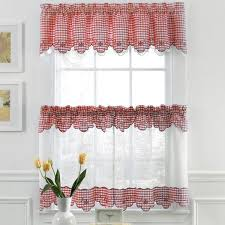 Checkered Kitchen Curtains 32 Best Curtains Windows Images On Pinterest Kitchen Curtains