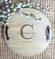 monogrammed serving tray wood tray serving tray breakfast tray wooden tray monogrammed