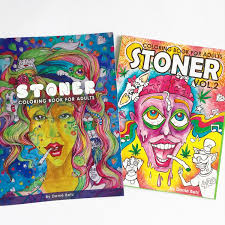 stoner coloring books for adults volume 1 and volume 2 combo