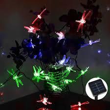 solar led christmas lights outdoor 4 8m 30 led rgb dragonfly solar light solar led christmas lights for