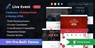 live event conference event u0026 meetup html template by webstrot