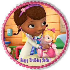 doc mcstuffin birthday cake doc mcstuffins 2 edible birthday cake or cupcake topper edible