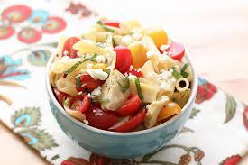 italian artichoke and tomato pasta salad