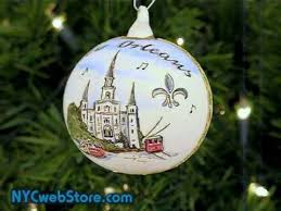 new orleans glass ornament