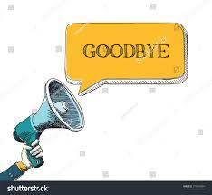 goodbye word speech bubble sketch drawing stock vector 373916884