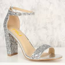 wedding shoes open toe women s silver glitter wedding shoes open toe chunky heels sandals