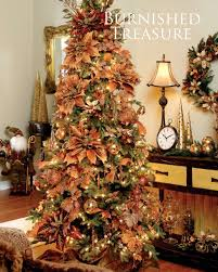 themed christmas decorations burnt autumn palette christmas tree decorating theme i