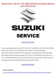 suzuki gsx 1100 gs 1150 1983 1987 service rep by sabori sabori issuu