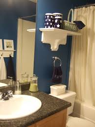 Navy Blue Bathroom Ideas Royal Blue Bathroom Love The White And Royal Blue Would Love
