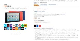 deal alert amazon u0027s all new fire hd 10 with alexa starts at