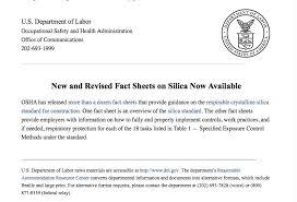 osha silica rule table 1 silica archives access compliance