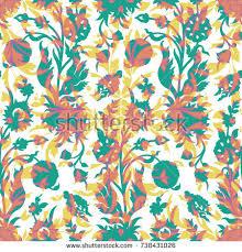 seamless pattern flowers wallpaper stock vector