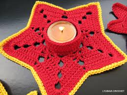 crochet pattern tea light candle holder diy christmas gifts