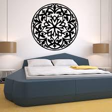 Om Wall Decal Mandala Vinyl by Flower Wall Decal Vinyl Stickers Art Decor Mandala Menhdi Om