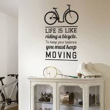 Wall Decals For Dining Room Wall Decal Quote Bicycle Ride