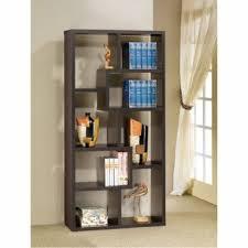 Oak Room Divider Shelves Amazon Com Room Divider Shelf In Black Oak Finish By Coaster